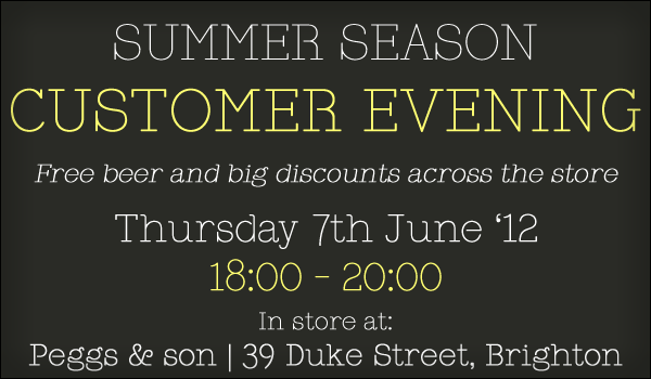 Customer Evening - Thursday 7 June